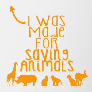 I was made for saving animals - Contrast Coffee Mug