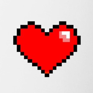 Pixel Heart - Contrast Coffee Mug