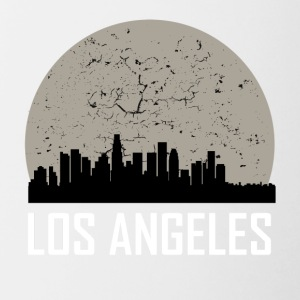 Los Angeles Full Moon Skyline - Contrast Coffee Mug