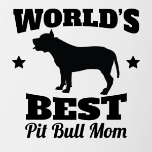 World's Best Pit Bull Mom - Contrast Coffee Mug