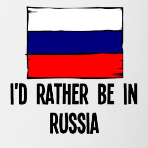 I'd Rather Be In Russia - Contrast Coffee Mug