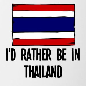 I'd Rather Be In Thailand - Contrast Coffee Mug