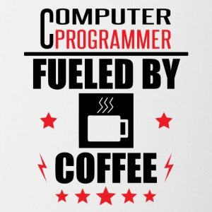 Computer Programmer Fueled By Coffee - Contrast Coffee Mug