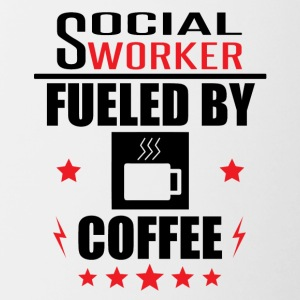 Social Worker Fueled By Coffee - Contrast Coffee Mug