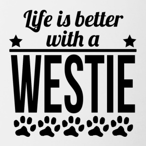 Life Is Better With A Westie - Contrast Coffee Mug