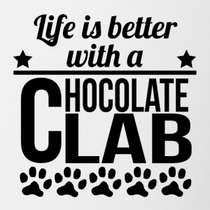 Life Is Better With A Chocolate Lab - Contrast Coffee Mug