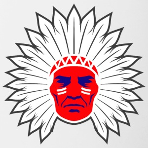 indian_chief_head_white - Contrast Coffee Mug