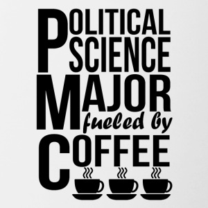 Political Science Major Fueled By Coffee - Contrast Coffee Mug