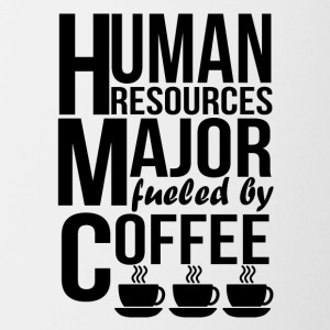 Human Resources Major Fueled By Coffee - Contrast Coffee Mug