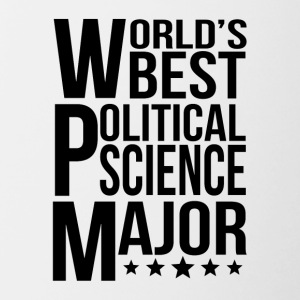 World's Best Political Science Major - Contrast Coffee Mug