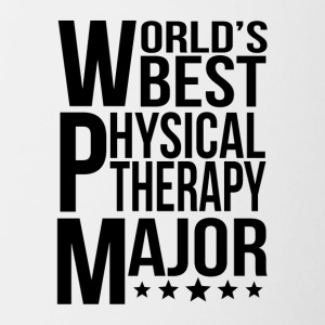 World's Best Physical Therapy Major - Contrast Coffee Mug