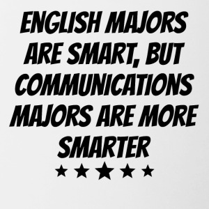 Communications Majors Are More Smarter - Contrast Coffee Mug