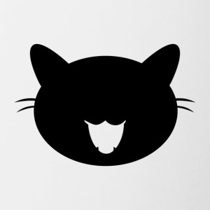 Black cat - Contrast Coffee Mug