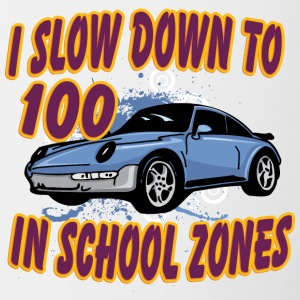 I_slow_down_to_100_in_school_zones - Contrast Coffee Mug