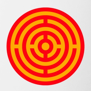 Red and Yellow Target Labyrinth - Contrast Coffee Mug
