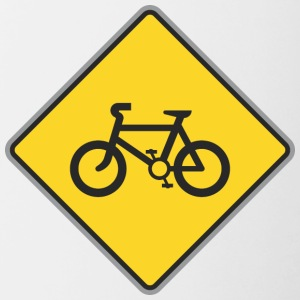 Road_Sign_bicycles_yellow - Contrast Coffee Mug