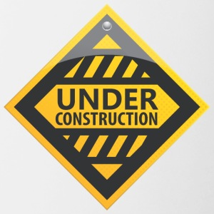 Road_sign_under_construction - Contrast Coffee Mug