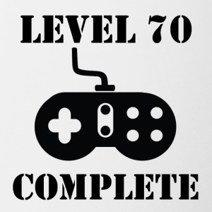 Level 70 Complete 70th Birthday - Contrast Coffee Mug