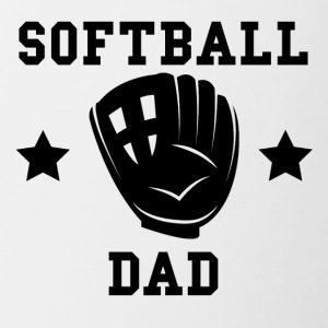 Softball Dad - Contrast Coffee Mug