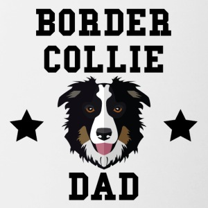 Border Collie Dad Dog Owner - Contrast Coffee Mug