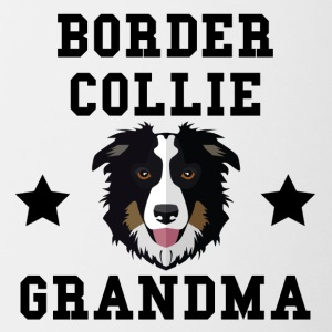 Border Collie Grandma Granddog - Contrast Coffee Mug