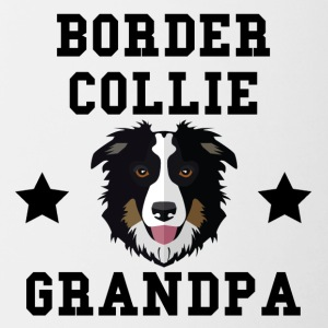 Border Collie Grandpa Granddog - Contrast Coffee Mug