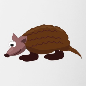 Cartoon Armadillo - Contrast Coffee Mug