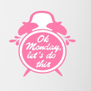 OK MONDAY CLOCK - Contrast Coffee Mug
