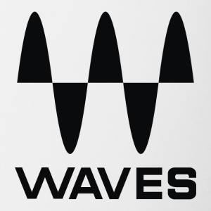 waves black - Contrast Coffee Mug