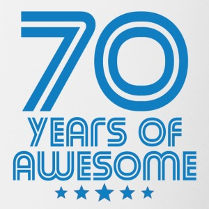 70 Years Of Awesome 70th Birthday - Contrast Coffee Mug