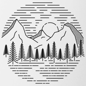 Line landscape [moutains] - Contrast Coffee Mug