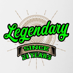 Legendary since 21 years t-shirt and hoodie - Contrast Coffee Mug