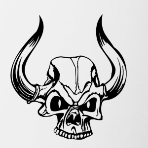 Skull Horns - Contrast Coffee Mug