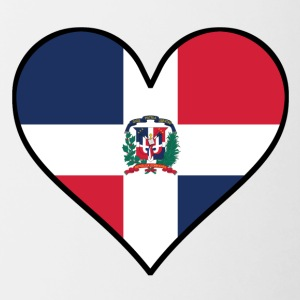 Dominican Flag Heart - Contrast Coffee Mug
