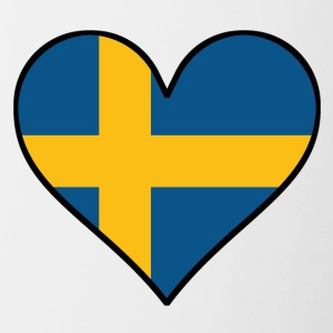 Swedish Flag Heart - Contrast Coffee Mug