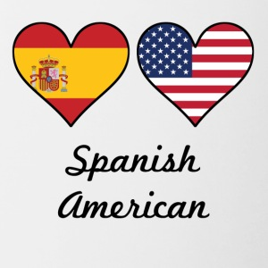 Spanish American Flag Hearts - Contrast Coffee Mug