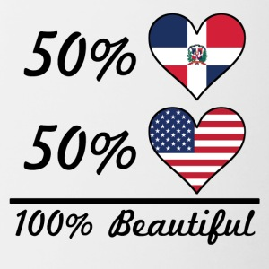 50% Dominican 50% American 100% Beautiful - Contrast Coffee Mug