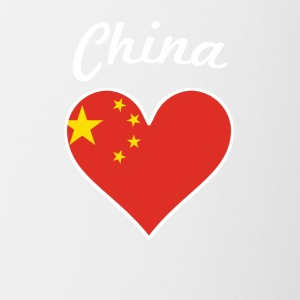China Flag Heart - Contrast Coffee Mug