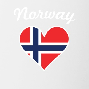 Norway Flag Heart - Contrast Coffee Mug