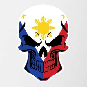 Filipino Flag Skull - Contrast Coffee Mug