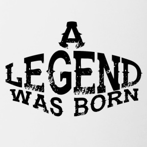 a legend was born - Contrast Coffee Mug