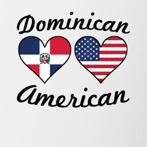 Dominican American Flag Hearts - Contrast Coffee Mug
