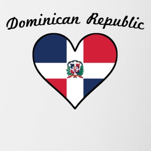 Dominican Republic Flag Heart - Contrast Coffee Mug