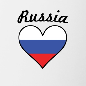 Russia Flag Heart - Contrast Coffee Mug