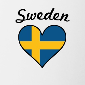 Sweden Flag Heart - Contrast Coffee Mug