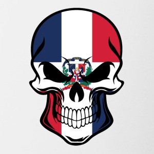 Dominican Flag Skull - Contrast Coffee Mug