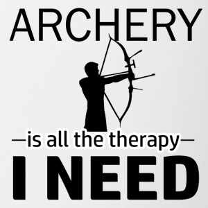 Archery is my therapy - Contrast Coffee Mug
