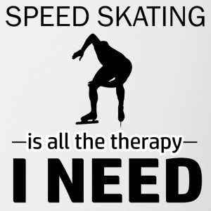 Speed skating is my therapy - Contrast Coffee Mug