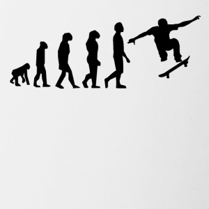 Skateboarding Evolution - Contrast Coffee Mug