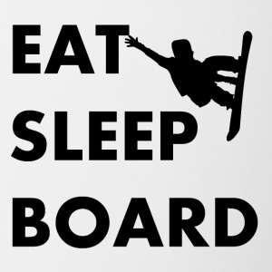 Eat Sleep Board Snowboarding - Contrast Coffee Mug